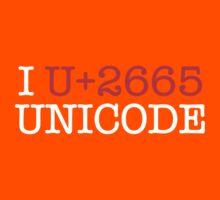 I U+2665 UNICODE (dark) Kids Tee