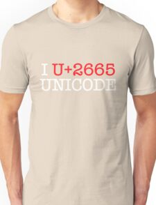 I U+2665 UNICODE (dark) T-Shirt
