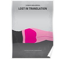 No287 My Lost in Translation minimal movie poster Poster