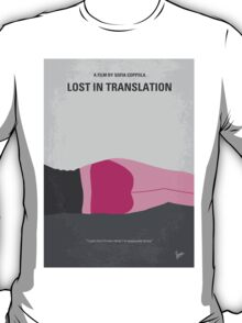 No287 My Lost in Translation minimal movie poster T-Shirt