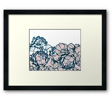 In my garden of pink and blue Framed Print