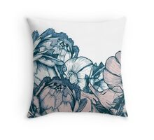In my garden of pink and blue Throw Pillow