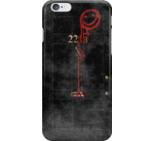 Smile! You're at 221B - red, foggy iPhone Case/Skin