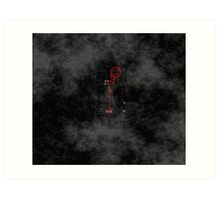 Smile! You're at 221B - red, foggy Art Print