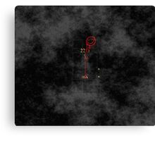 Smile! You're at 221B - red, foggy Canvas Print