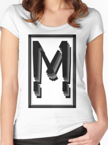 The Alphabet  The letter M Women's Fitted Scoop T-Shirt