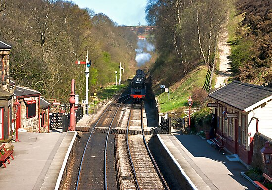 Approaching Goathland Station by Trevor Kersley
