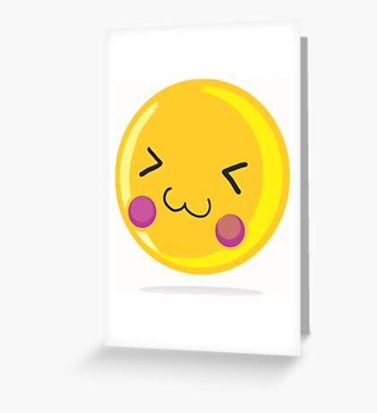 Cute emoticon Greeting Card