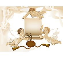 Angels greeting Photographic Print