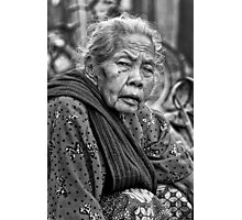 old women BW Photographic Print