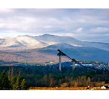 Ski jumps near Lake Placid Photographic Print