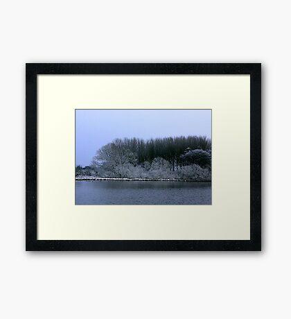 The Pond in Winter Framed Print