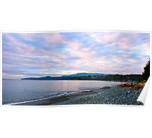 A rocky beach in Sooke, BC Poster