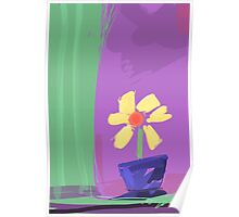 Abstract Flower Poster