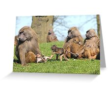 The Meeting Of The Nannies Greeting Card