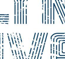 Flynn Lives Distressed Dark Blue Sticker