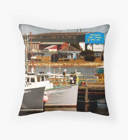 Portsmouth Naval Ship Yard Throw Pillow
