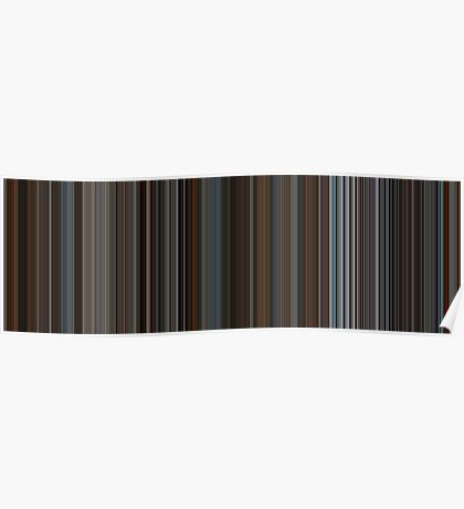 Moviebarcode: Inception (2010) [Simplified Colors] Poster