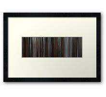 Moviebarcode: Inception (2010) Framed Print