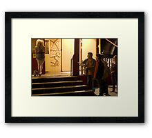 In line for a Show Framed Print