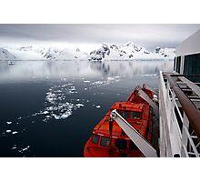 Landing in Antarctica Photographic Print