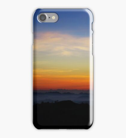 Colorful sunrise over the hills of Horton Plains iPhone Case/Skin