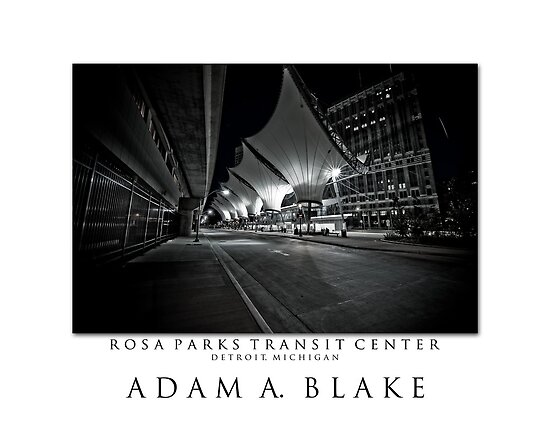 Rosa parks transit center by oneadam12 redbubble - Centre commercial rosa parks ...