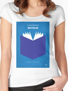No291 My MATHILDE minimal movie poster Women's Fitted Scoop T-Shirt