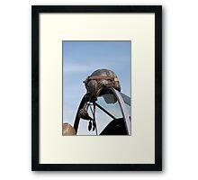 Leather Helmet Framed Print