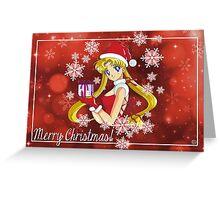 Sailor Moon Merry Xmas Greeting Card