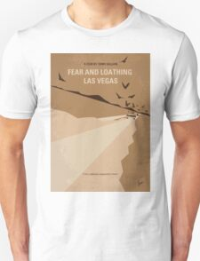 No293 My Fear and loathing Las vegas minimal movie poster T-Shirt