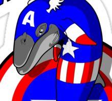 Captain Fin-merica Sticker