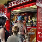 Donuts Queue - Blackpool Promenade  by Victoria limerick