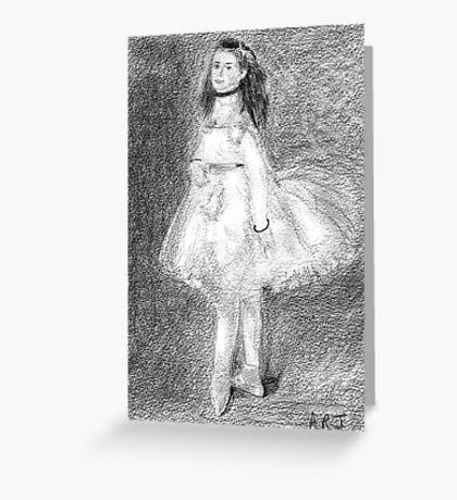 The Dancer after Edgar Degas. Greeting Card