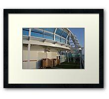 Deck of cruise ship Framed Print