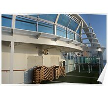 Deck of cruise ship Poster