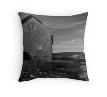 Potato barn, Blomidon, Nova Scotia Throw Pillow