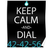 sul eater keep calm and dial42-42-564 anime manga shirt Poster