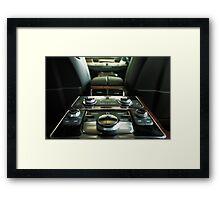 Audi A8L Interior Rear Framed Print