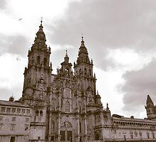 Cathedral at Santiago de Compostela, Spain  by Steve