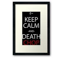 soul eater keep calm and death chop anime manga shirt Framed Print