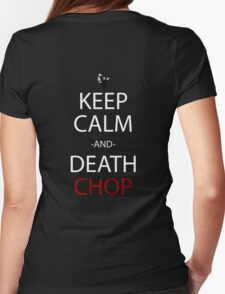 soul eater keep calm and death chop anime manga shirt Womens Fitted T-Shirt