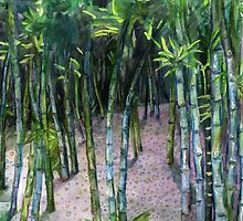 Bamboo Forest by Genevieve  Cseh