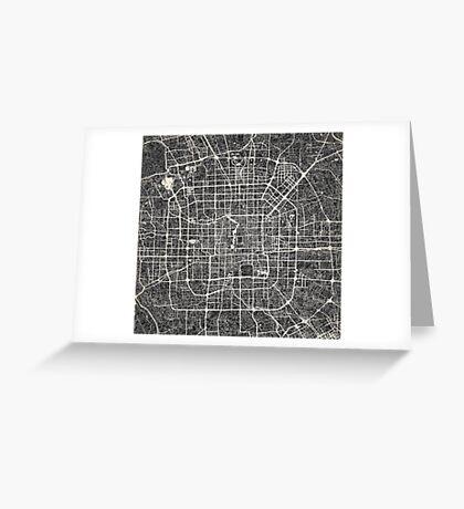 Beijing map Greeting Card
