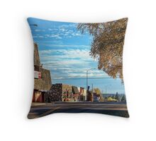Downtown Columbia Falls (Montana, USA) Throw Pillow