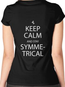 soul eater keep calm and stay symmetrical anime manga shirt Women's Fitted Scoop T-Shirt