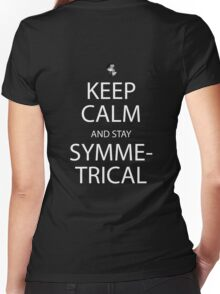 soul eater keep calm and stay symmetrical anime manga shirt Women's Fitted V-Neck T-Shirt