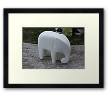 A white Elephant! Framed Print
