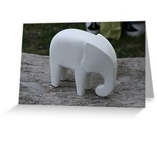 A white Elephant! Greeting Card