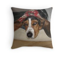 Lunabelle wearing her hat Throw Pillow